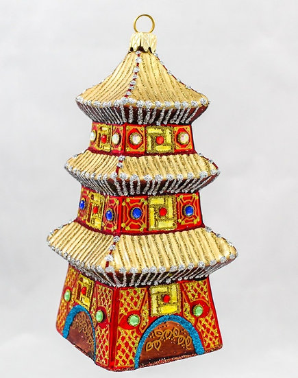 "#651 - Thomas Glenn  ""Red Pagoda"" Ornament"