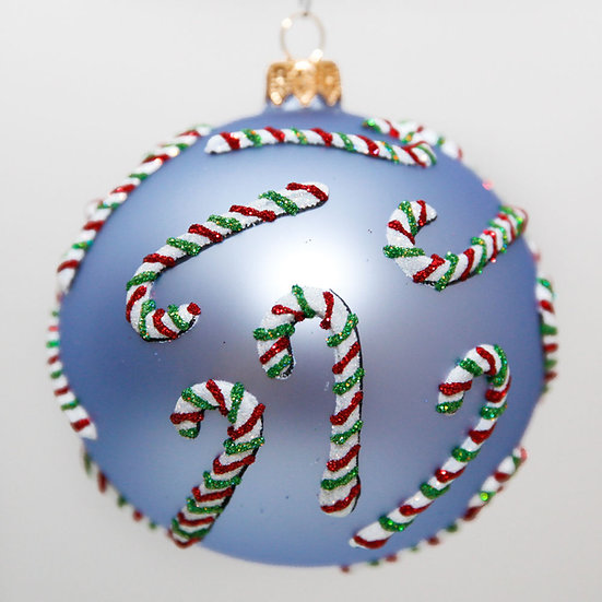 "#2023 - Thomas Glenn ""Candy Cane Lane"" Ball Christmas Ornament"