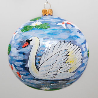 "#2059 - Thomas Glenn ""Cygnus"" Ball Christmas Ornament"