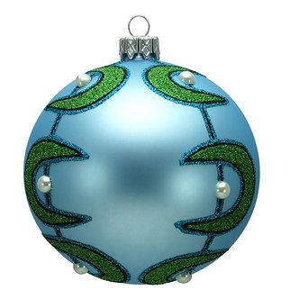 "#1611 - Thomas Glenn ""Space Age Boomerang"" Ball Christmas Ornament"