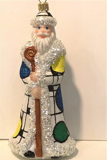 """#1813Santa - Thomas Glenn """"Santa - Wright Way"""" Molded Christmas Ornament"""