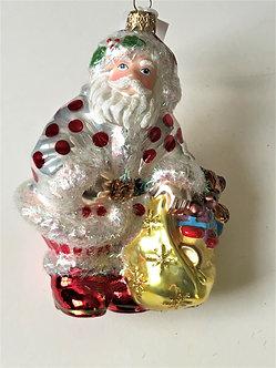 "Thomas Glenn ""Santa - Red Dot"" Molded Christmas Ornament"