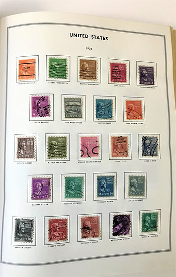 """Stamps """"US 1938 Presidential Issue"""" Scott #803 - #832 Set"""