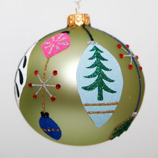 "#2040 - Thomas Glenn ""Spangles"" Ball Christmas Ornament"