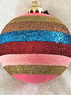 "#83 - Thomas Glenn ""Bright Stripe"" Ball Christmas Ornament"