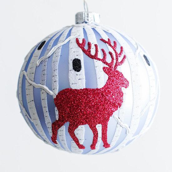 "#1952 - Thomas Glenn ""Oh Deer"" Ball Ornament"