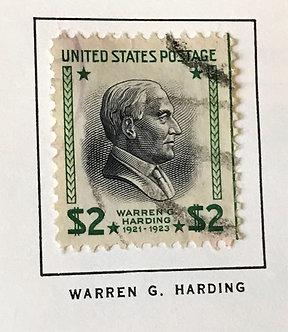 "Stamps ""US 1938 Presidential Issue"" Scott #833 - Harding $2"