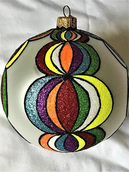 "#1701 - Thomas Glenn ""Carnival"" Ball Christmas Ornament"