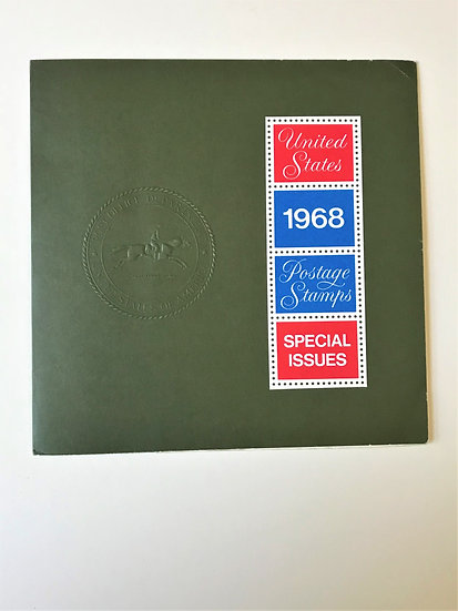 """Stamps """"USPS 1968 Commemorative Yearbook"""" Book & Mint Stamps"""