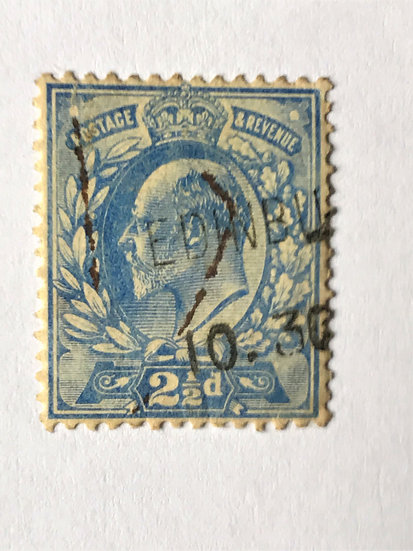 "Stamps ""Great Britain #131"" King Edward 2-1/2p ultra, Used"