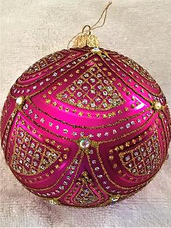 "#632PK - Thomas Glenn ""Aurora - Pink"" Ball Christmas Ornament"