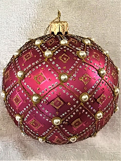 "#634PK-O - Thomas Glenn ""Pearl - Pink Prototype"" Ball Christmas Ornament"