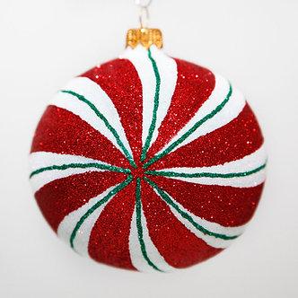 "#2030 - Thomas Glenn ""Peppermint"" Ball Christmas Ornament"