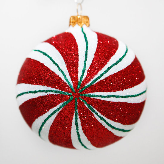 "#2030 - Thomas Glenn ""Peppermint"" Ball Christmas Ornament"