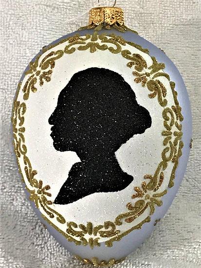 "#1880 - Thomas Glenn ""Cameo Egg"" Faberge Egg Christmas Ornament"