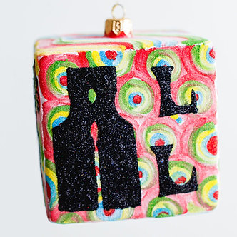 "#207C - Thomas Glenn ""All You Need Is Love"" Cube Ornament"