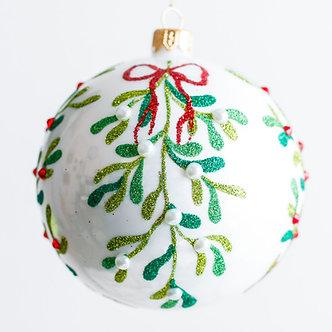 """#1910 - Thomas Glenn """"Mistletoe"""" Ball Ornament"""