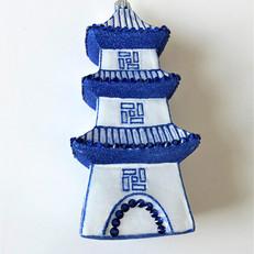 1891 - Pagoda - Blue & White
