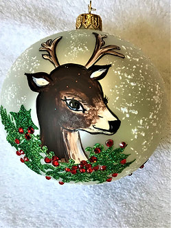 "#2063 - Thomas Glenn ""Doe - A Deer"" Ball Charismas Ornament"