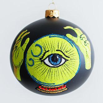 """#1976 - Thomas Glenn """"Fortune Teller"""" Halloween Ball Ornament"""