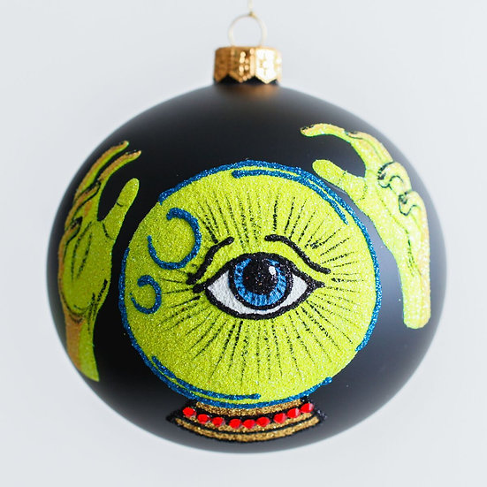 "#1976 - Thomas Glenn ""Fortune Teller"" Halloween Ball Ornament"