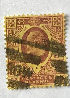 "Stamps ""Great Britain Scott #132"" King Edward 3p"