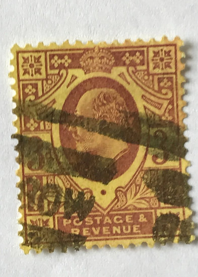 "Stamps ""Great Britain Scott #132"" King Edward 3p"