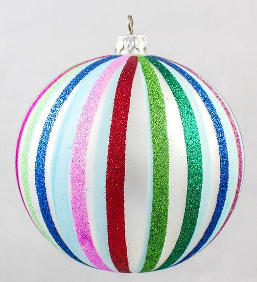 "#77 - Thomas Glenn ""MultiStripe"" Ball Ornament"