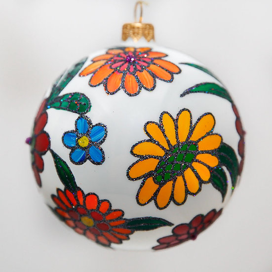 """#1610 - Thomas Glenn """"Fresh Flowers"""" Ball Christmas Ornament"""