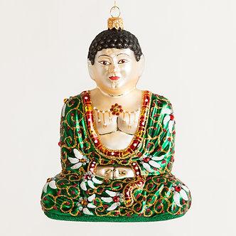 "#Buddha-DKG - Thomas Glenn ""Buddha Dark Green"" Molded Christmas Ornament"