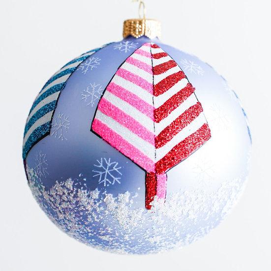 "#1933 - Thomas Glenn ""Fruit Stripe Trees"" Ball Ornament"
