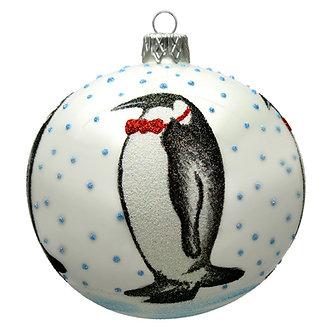 """#1594 - Thomas Glenn """"Mr. Penquin"""" Ball Ornament"""