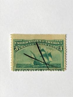 "Stamps ""U.S. 1893 Columbian Expo Scott #232"" 3c Green"