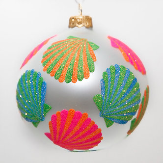 "#2018 - Thomas Glenn ""Sea Shore Sea Shells"" Ball Christmas Ornament"