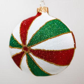 """#2036 - Thomas Glenn """"Sussex"""" Ball Christmas Ornament"""