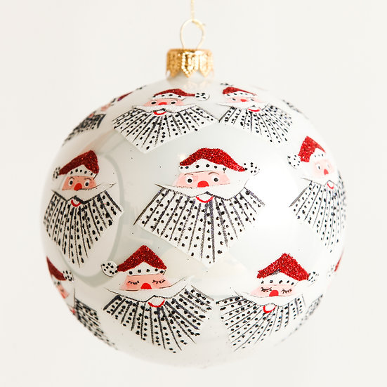"""#1831 - Thomas Glenn """"Sparky Santa"""" Ball Ornament"""