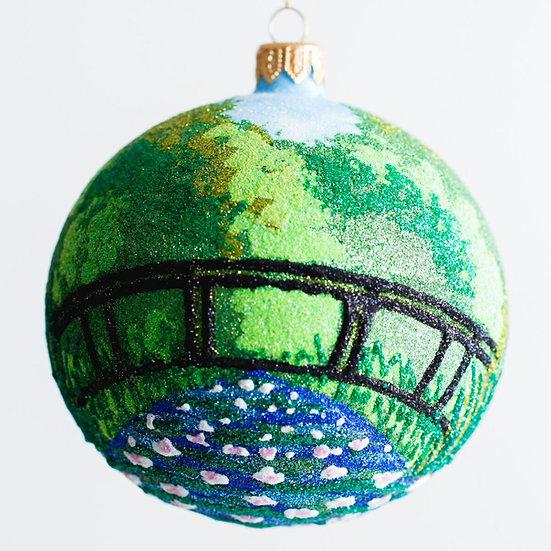 "#1943 - Thomas Glenn ""Monet's Garden"" Ball Ornament"