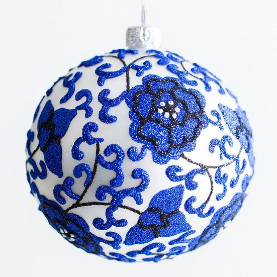 """#1961 - Thomas Glenn """"Ginger Jar"""" Ball Ornament"""