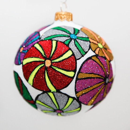 """#2009 - Thomas Glenn """"Sugar Plums"""" Ball Christmas Ornament"""