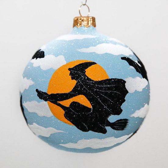 "#2093 - Thomas Glenn ""Wicked Witch"" Ball Halloween Ornament"