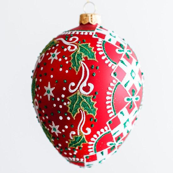 """#1956 - Thomas Glenn """"Nordic"""" Egg Ornament"""