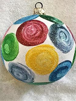 "#630 - Thomas Glenn ""Spaceballs on White"" Ball Christmas Ornament"
