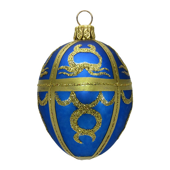"""#415 - Thomas Glenn """"Blue"""" Mini Faberge Egg Ornament"""