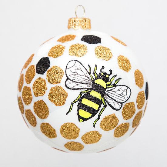 "#1716 - Thomas Glenn ""Honey Bee"" Ball Ornament"