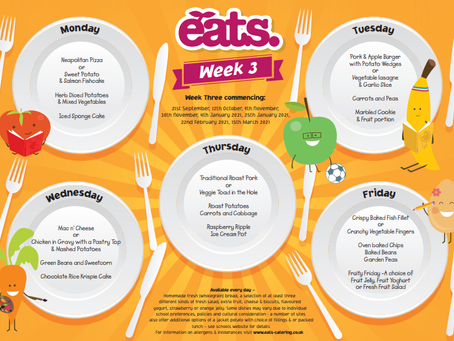 Menu for week commencing Monday 30th November