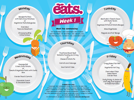 Menu for week Monday 7th - Friday 11th December