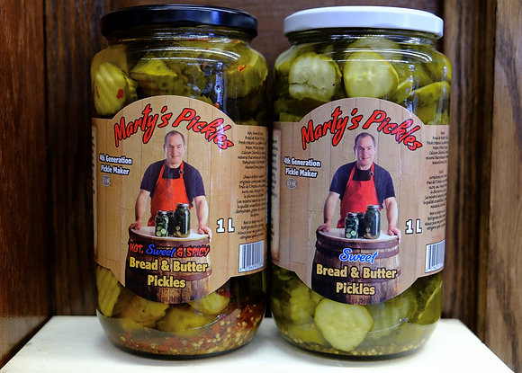 Marty's Pickles Bread & Butter Pickles