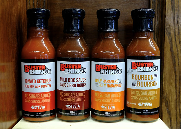 Buster Rhino's No Sugar Added Sauces