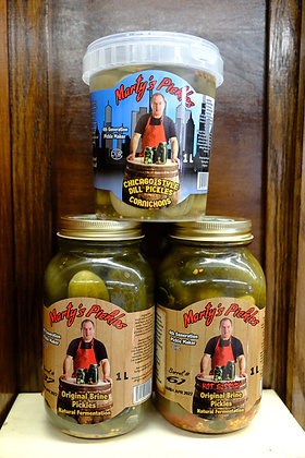 Marty's Pickles Original Brine & Chicago Style