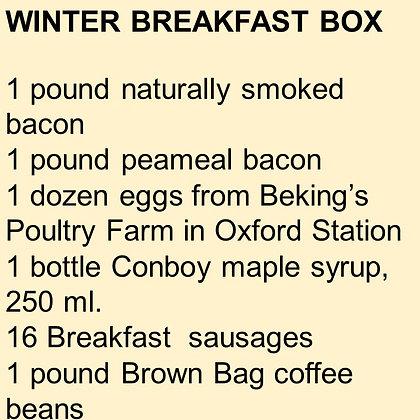 WINTER BREAKFAST BOX